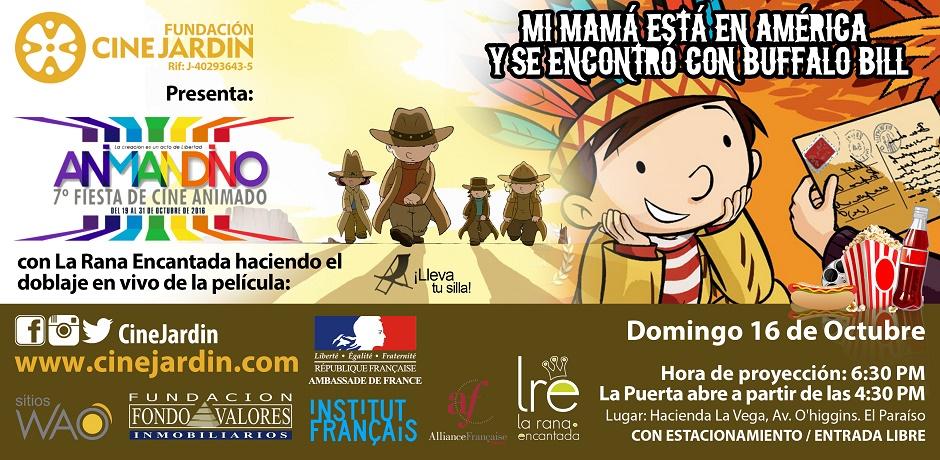 Festival de Cine Animado en Cine Jardín – Hacienda La Vega con doblaje en vivo de La Rana Encantada