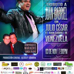 "Espectáculo musical ""Tributo a Juan Gabriel"" llega al Teatro Sambil"