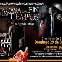 Cine Jardín celebra cine venezolano con La Casa del fin de los Tiempos