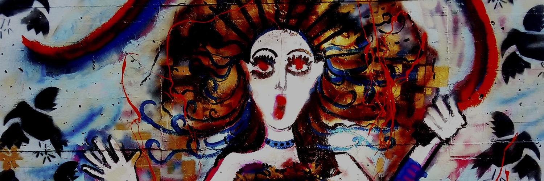 El Imaginario alquímico de Sofía Insomnia plasmado en un mural Neo Expresionista