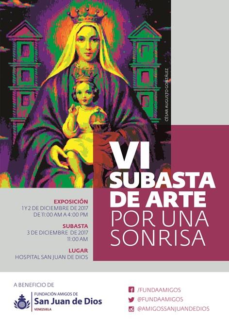 """VI Subasta de Arte """"Por Una Sonrisa"""" a beneficio de la Fundación Amigos de San Juan de Dios. Arte transformador de vidas."""